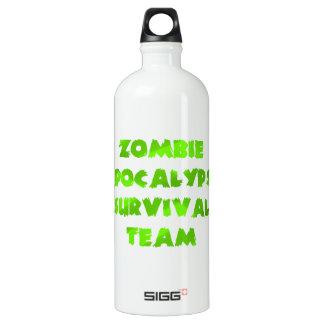 Zombie Apocalypse Survival Team in Green Aluminum Water Bottle