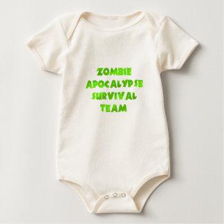 Zombie Apocalypse Survival Team in Green Baby Bodysuit