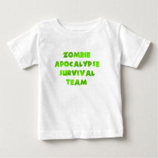 Zombie Apocalypse Survival Team in Green Baby T-Shirt