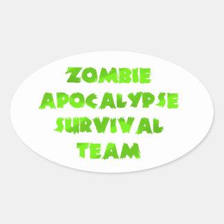 Zombie Apocalypse Survival Team in Green Sticker