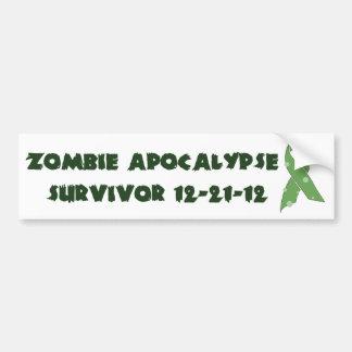 Zombie Apocalypse Survivor 12-21-12 Bumper Sticker