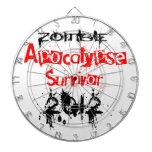 Zombie Apocalypse Survivor 2012 Dart Board