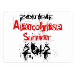 Zombie Apocalypse Survivor 2012 Post Card