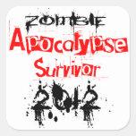 Zombie Apocalypse Survivor 2012 Stickers