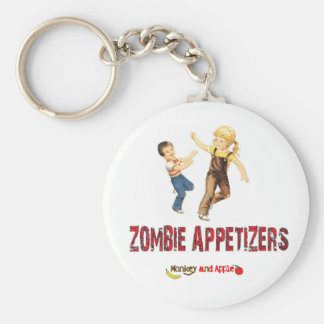 Zombie appetizers key chain