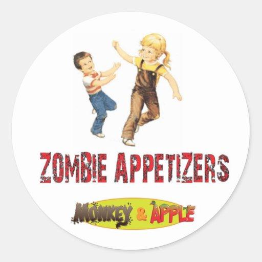 Zombie appetizers sticker