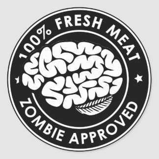 Zombie Approved Inverted Sticker