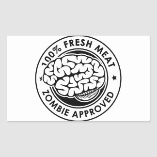 Zombie Approved Rectangle Stickers