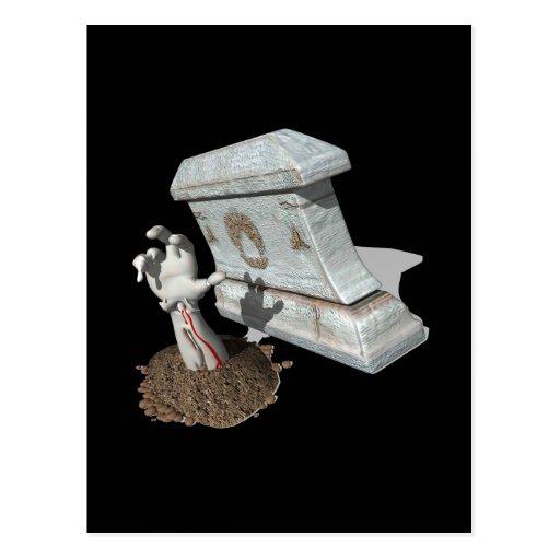 Zombie Arm Grave Post Card