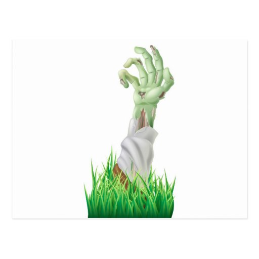 Zombie arm post card