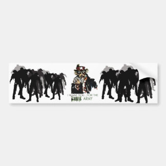 zombie army bumper sticker