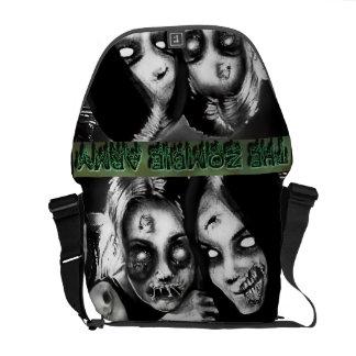 zombie army girls messenger bag
