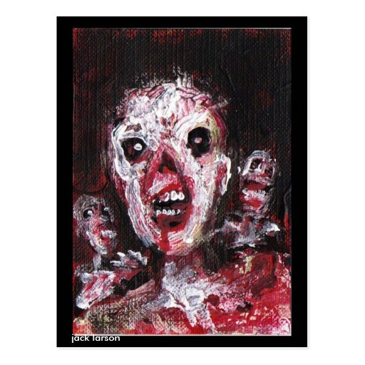 Zombie Art by Jack Larson Post Card