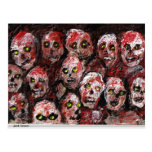 Zombie Art Postcard