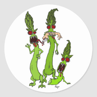 Zombie Asparagus Stickers