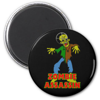 Zombie Assassin 2 Inch Round Magnet