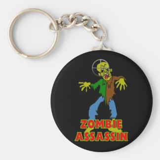 Zombie Assassin Basic Round Button Keychain