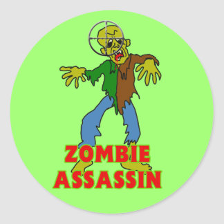 Zombie Assassin Classic Round Sticker