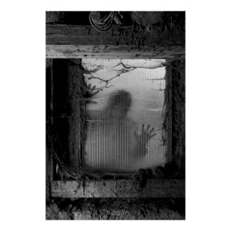 zombie at the window poster