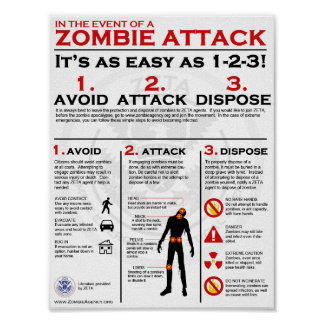 Zombie Attack - 1-2-3 Poster