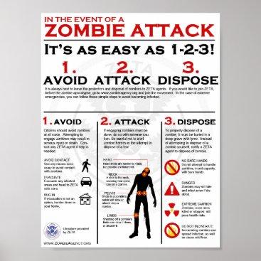 ZombieETA Zombie Attack - 1-2-3 Poster