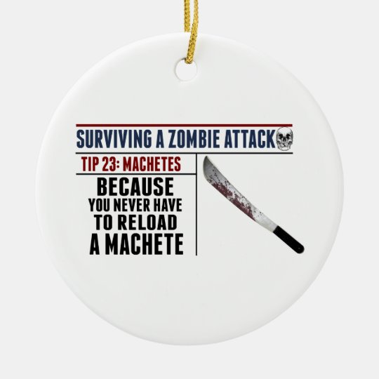 ZOMBIE ATTACK 23 Christmas Ornament