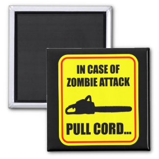 Zombie Attack 2 Inch Square Magnet