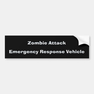 Zombie Attack BumperSticker Car Bumper Sticker