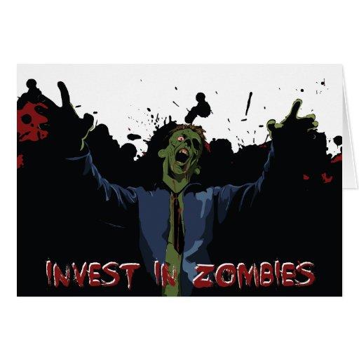 Zombie attack greeting card zazzle