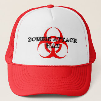 ZOMBIE ATTACK HAT. TRUCKER HAT