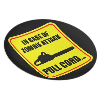 Zombie Attack Dinner Plates