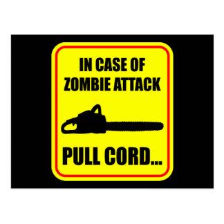 Zombie Attack Postcard