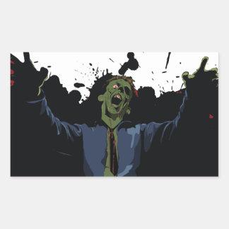 Zombie Attack! Rectangular Sticker