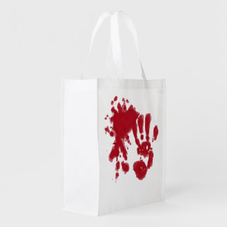 zombie attack reusable grocery bag