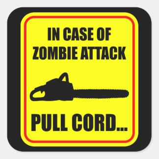 Zombie Attack Square Sticker