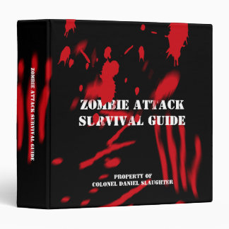 Zombie Attack Survival Guide 3 Ring Binder