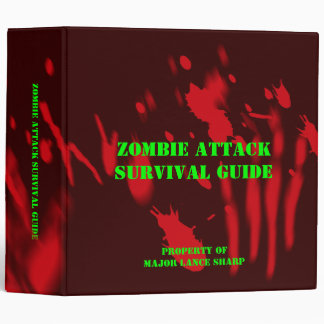 Zombie Attack Survival Guide Binder