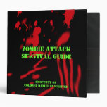 Zombie Attack Survival Guide Binders