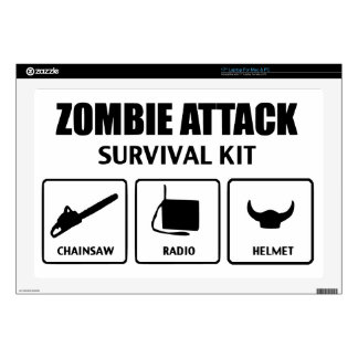 zombie attack survival kit decals for laptops
