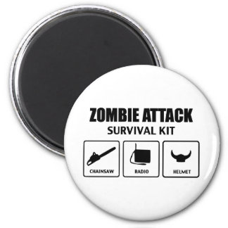 zombie attack survival kit magnet
