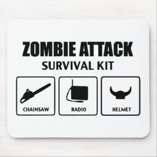 zombie attack survival kit mouse pad