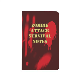 Zombie Attack Survival Notes Journal
