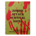 Zombie Attack Survival Notes Note Books