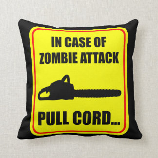 Zombie Attack Throw Pillow