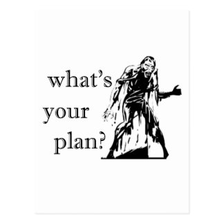 Zombie Attck - What's Your Plan? Postcard