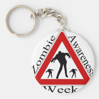 Zombie Awareness Keychain