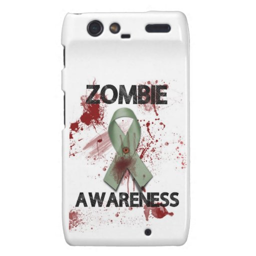 Zombie Awareness Ribbon - Droid RAZR Covers