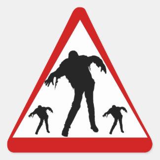 Zombie Awareness Triangle Sticker