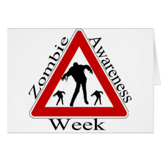 zombie awareness week card