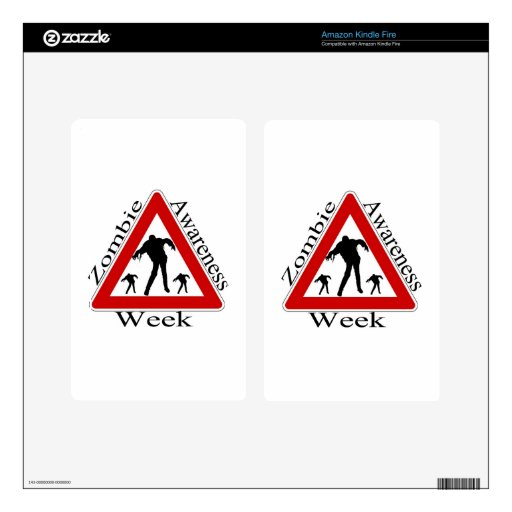 zombie awareness week decals for kindle fire